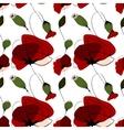 Poppy flower summer seamless pattern vector image