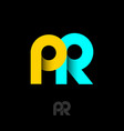 pr logo public relations emblem vector image vector image