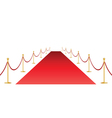 red carpet and stantion vector image vector image