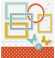 Retro scrapbook set vector image vector image