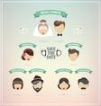retro set wedding icons vector image vector image