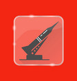 rocket and launch pad silhouette icon in flat vector image vector image