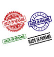 scratched textured made in panama stamp seals vector image vector image