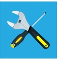 Screwdriver and Wrench crossed vector image vector image