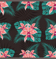 seamless pattern with orchids 2 vector image vector image