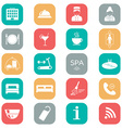 Set of hotel icons Flat design Silhouette vector image vector image