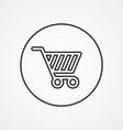 shopping cart outline symbol dark on white vector image
