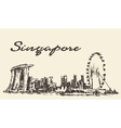 Singapore skyline drawn sketch vector image vector image