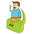 sitting on big bubble speech vector image vector image