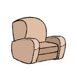 sofa armchair comfort furniture icon vector image vector image