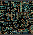 surfing seamless pattern tribal elements for your vector image