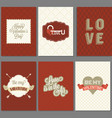 template of valentine greeting card and invitation vector image vector image