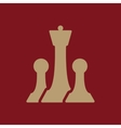The chess icon Game symbol Flat