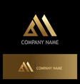 triangle shape business gold logo vector image vector image