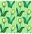 tulip seamless background pattern vector image