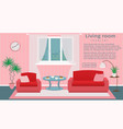 website banner of living room interior vector image vector image
