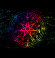 wiccan symbol protection colorful mandala vector image vector image
