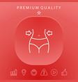 women waist weight loss diet waistline line vector image vector image
