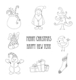 Christmas retro elements and vector image