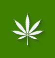 marijuana leaf on green background vector image