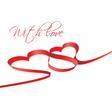 red heart ribbon vector image