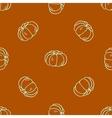 Seamless pattern of autumn pumpkins Harvest of vector image