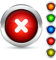 Abort button vector image vector image