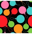 Abstract Christmas multicolored balls in flat vector image