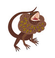 aggressive lizard cartoon icon vector image vector image