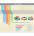An infograph with colourful graphs vector image vector image