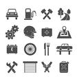 Auto service icons set vector image