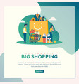 big shopping sale vector image vector image