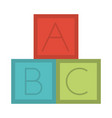 blocks alphabet education toy object for small vector image vector image