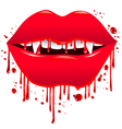 Bloody Lips vector image