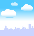 blue sky city vector image vector image