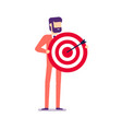businessman holding target with arrow vector image vector image