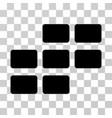 calendar grid icon vector image vector image