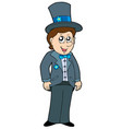 cartoon groom vector image vector image