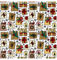 chrestmas presents seamless pattern vector image vector image