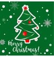 Christmas hand drawn tree greeting card vector image vector image