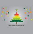 christmas tree colorful background vector image vector image