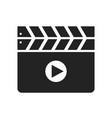 clapboard glyph icon vector image vector image