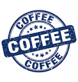 coffee blue grunge round vintage rubber stamp vector image vector image