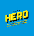 comics super hero style font design alphabet vector image