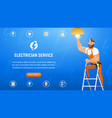 concept electrician service vector image vector image