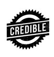 credible rubber stamp vector image vector image