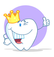 Crowned Tooth Character vector image vector image