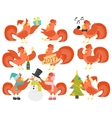 Cute cartoon rooster cock character vector image vector image