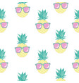 cute seamless print with pineapples vector image