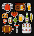 doodle icons set of beer symbols beer vector image vector image